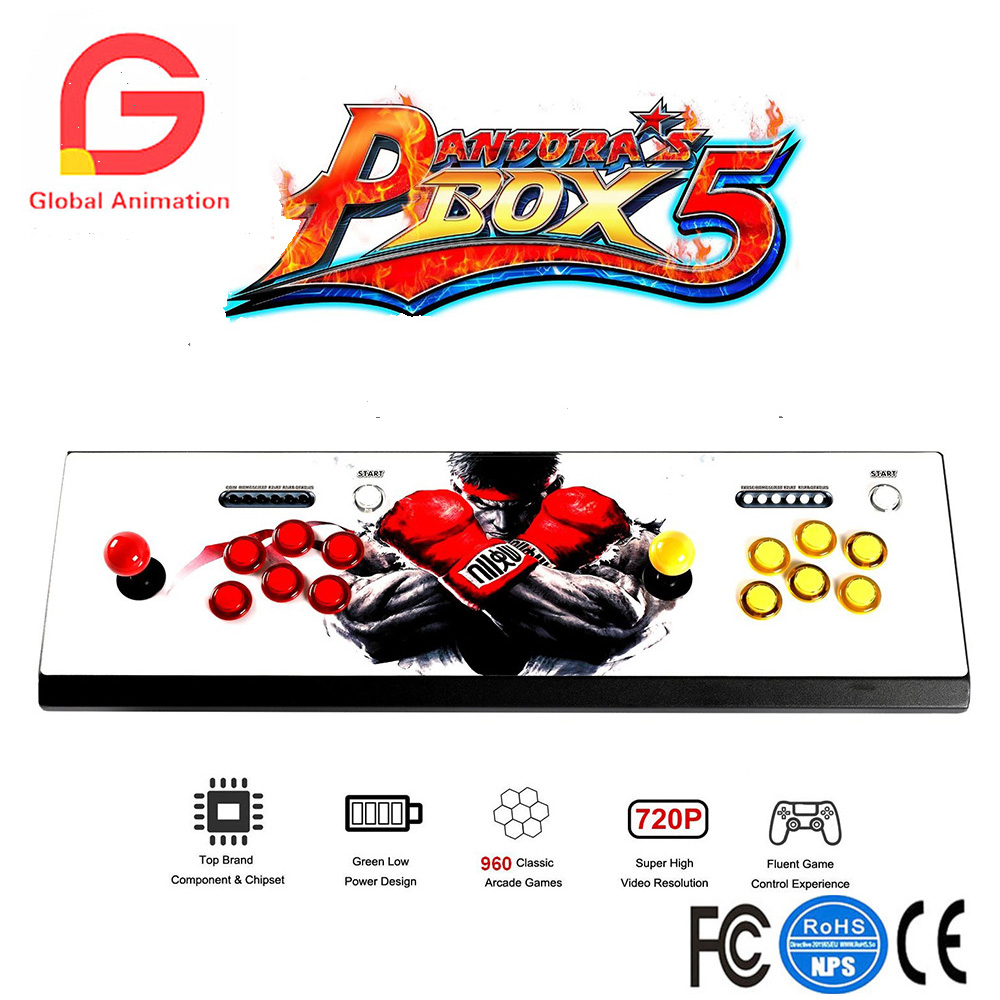 Pandora's Box 5 LED Arcade Game Console 960 Games 2 Player Metal Arcade Video Game Machine with 1280x720 Full HD HDMI VGA Output nintendo gba video game cartridge console card metroid zero mission eng fra deu esp ita language version