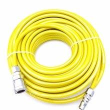 8 мм x 5 PU прямые пневматические шланги сжатия воздуха трубки 10 м/15 м/20 м с быстрый Металл суставов желтый/красный/прозрачный