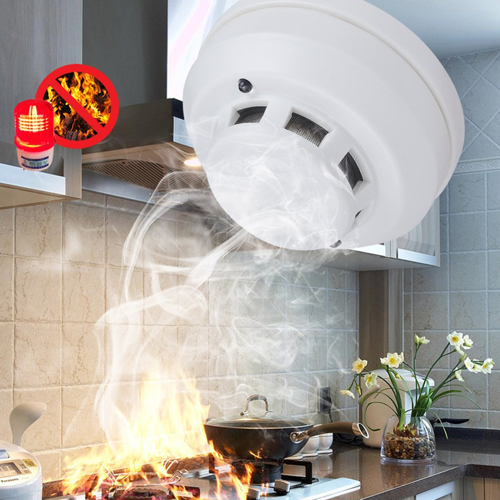 Smoke Detector 4-wire Networking Photoelectric Fire Smoke Alarm with Photoelectric Sensor Acj718n