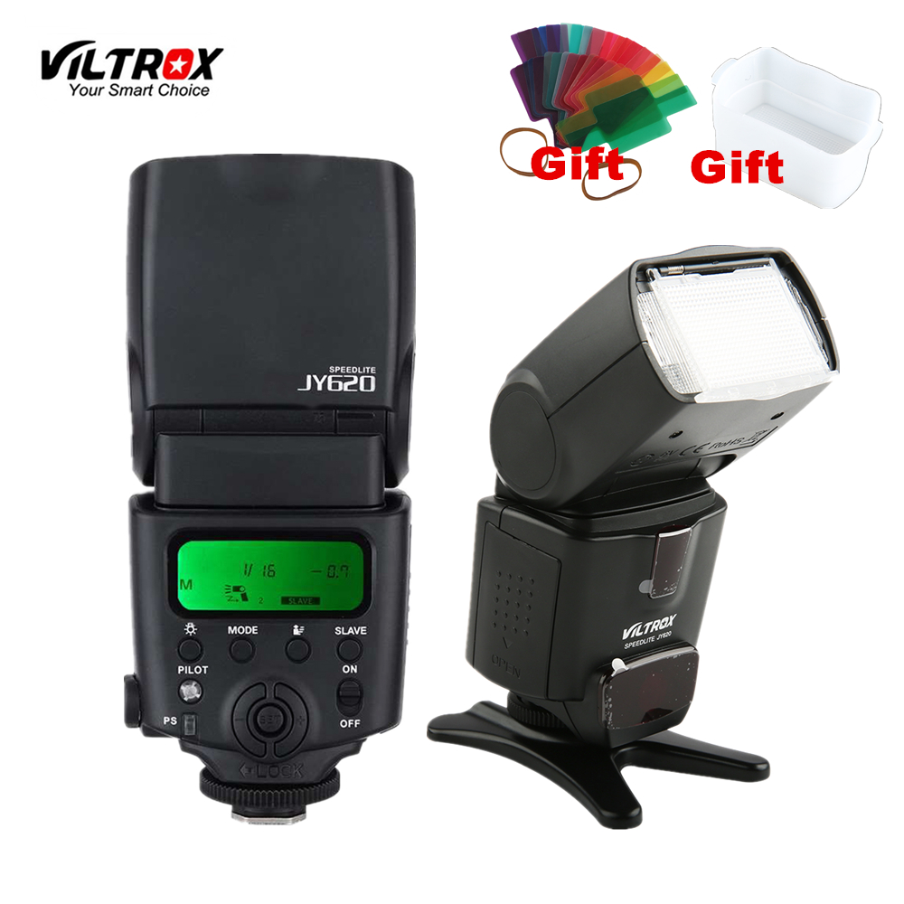 Viltrox JY-620 Universal Camera LCD Flash Speedlite For Canon 1300D 1200D 760D 750D 80D 5D IV 7D Nikon Pentax Olympus Sony DSLR universal camera inseesi in 560 iv plus wireless flash or viltrox jy 680a flash speedlite with lcd screen for canon nikon pentax