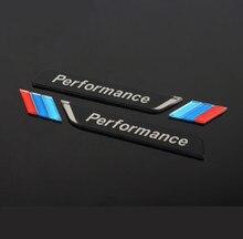 新しい 2pec/セット m 電力性能フェンダー車スタイリングデカールエンブレムバッジ BMW M 1 3 4 5 6 7 E Z × 車のステッカーアクセサリー