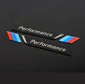 Image 1 - 新しい 2pec/セット m 電力性能フェンダー車スタイリングデカールエンブレムバッジ BMW M 1 3 4 5 6 7 E Z × 車のステッカーアクセサリー
