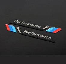 Emblema emblema para carro, 2pec/conjunto m, desempenho de alta potência, para bmw m 1 3 4 acessórios adesivos do carro 5 6 7 e z x