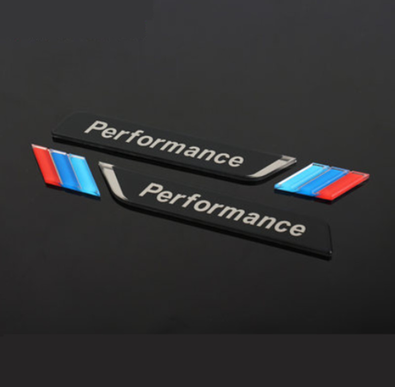 New 2pec/set M Power Performance Fender Car Styling Decal Emblem Badge For BMW M 1 3 4 5 6 7 E Z X Car Stickers Accessories-in Car Stickers from Automobiles & Motorcycles