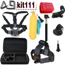A9 Para Action Sports Cámara Accessores Kit para C30/C30R/C50/C10S/S70/S60/S60B/C10 SJ4000 SJCAM M10/SJ5000/SJ5000X Gopro Hero 4
