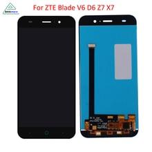 Pour ZTE Blade X7 Affichage D6 V6 Z7 LCD Affichage à L'écran Tactile Digitizer Pièces de Téléphone D'origine Pour ZTE Blade X7 V6 T660 T663 LCD