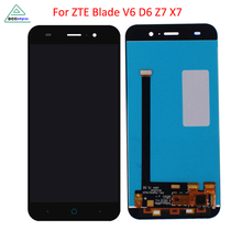 Original new Full LCD Display+Touch Screen Digitizer Assembly For ZTE Blade X7 D6 V6 Z7 T660 T663 Free shipping and Tools
