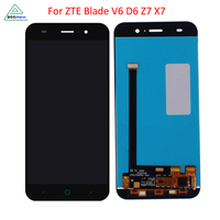 LCD Display Touch Screen Digitizer For ZTE Blade X7 D6 V6 Z7 Discount Promotional Black Color