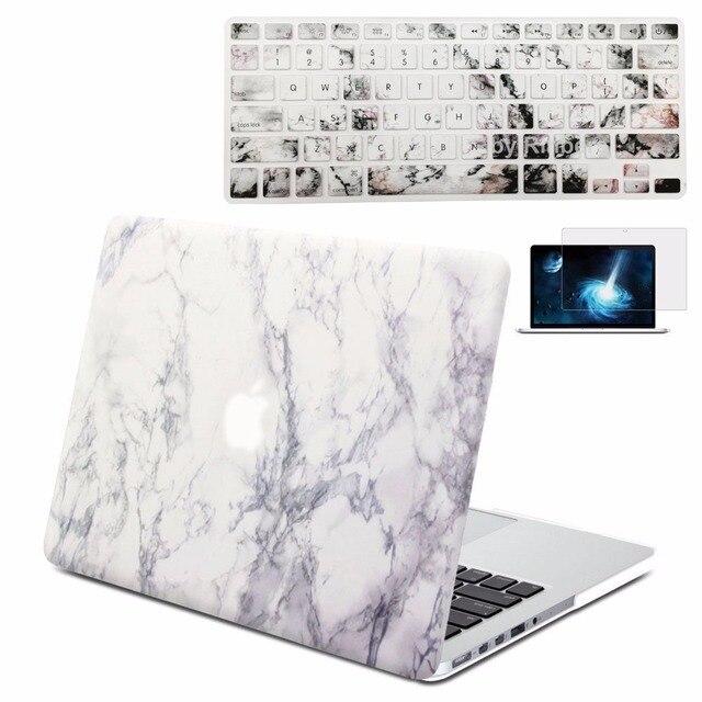 Трудный Случай Раковины Мрамор С Резиновым Покрытием Крышки Печати Матовое для Apple MacBook Pro 13 с Retina A1502 A1425 с клавиатура