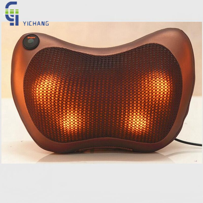 2017 Hot Sale Infrared Heating Double Beauty Body Neck Massage Relaxation Pillow Car Massager Cushion Seat Covers Headrest Tools 2017 hot sale mini electric massager digital pulse therapy muscle full body massager silver