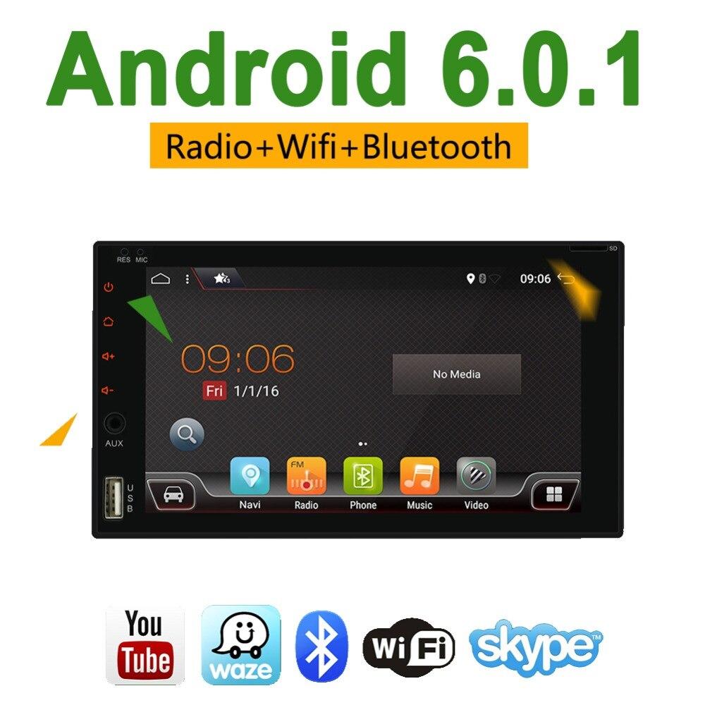 Bosion 2 Din Universel Voiture Radio Android 6.0 Stéréo 2g + 16g Quad Core 6.2 pouce GPS Navigation radio De Voiture Multimédia