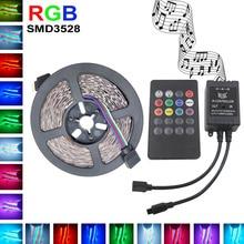 3528 RGB LED Strip Flexible Light DC12V 5M 10M SMD2835 5m/roll + music IR Remote Controller , Home Decoration LED Stripe