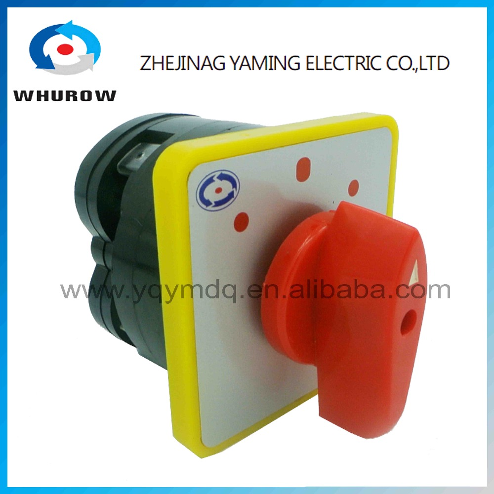 Rotary switch 3 postion 550V 16A 1 pole LW5-16/1 Red dot main universal changeover cam switch silver contact circuit control ac 380v 63a 3 pole 2 knife switch circuit control opening load switch