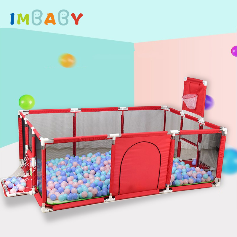 IMBABY Playpen For Children Piscine a Balle Play Tent Large Area for Baby Fence Kids Tent