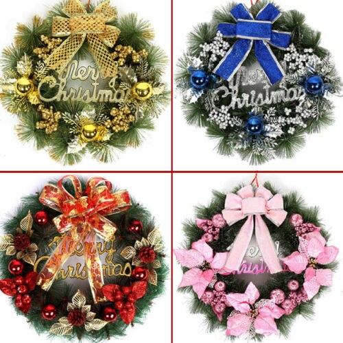 beautiful elegant hanging christmas wreath garland ball cone xmas ornaments window door decoration 4 colors for choice - Elegant Christmas Decorations For Sale