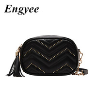 ENGYEE Travel Waist Bag For Women Fashion Fanny Packs Tassel Belt Pack Bag Female Leather Small Shoulder Bag Ladies Wallet Girl