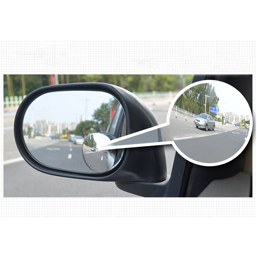 1 coppia di 360 Gradi senza telaio ultrasottile Grandangolare Rotondo Convesso Blind Spot specchio per il parcheggio di retrovisione specchio di alta qualità