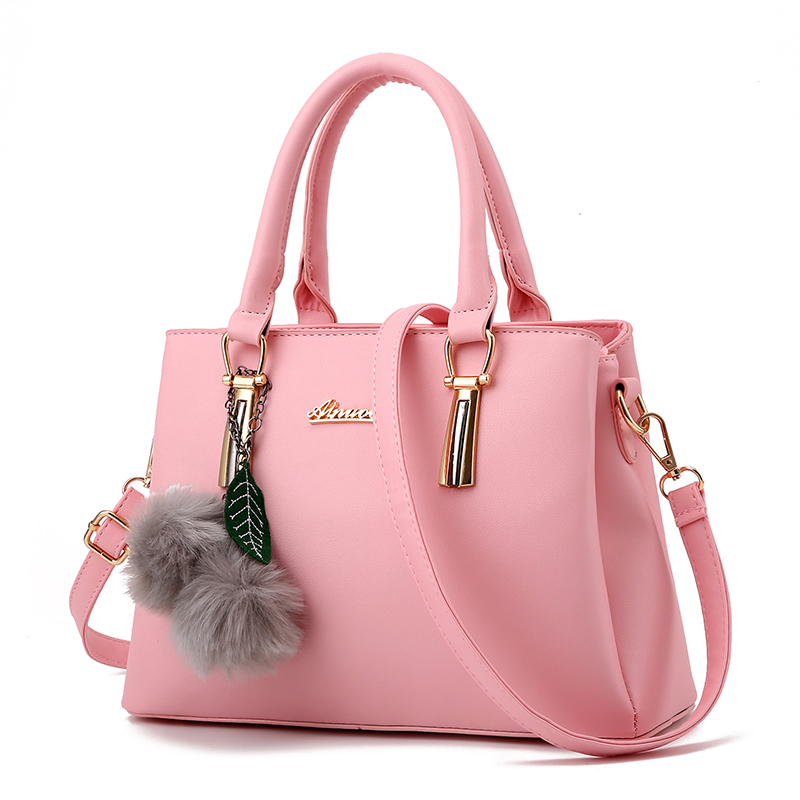 pink color handbag female satchel fashion shopping bag ladies shoulder messenger