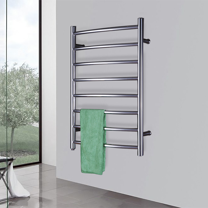 Towel Heater Rack: Curve Bar Electrical Heated Towel Warmer Rack Stainless