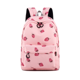 Angelatracy 2019 New Arrival Cute Fashion Hot Stawberry Pink Waterproof Big Girl School Bag Preppy Style Women Book Bag Backpack stacy bag hot sale girl vintage backpack preppy style student school bag
