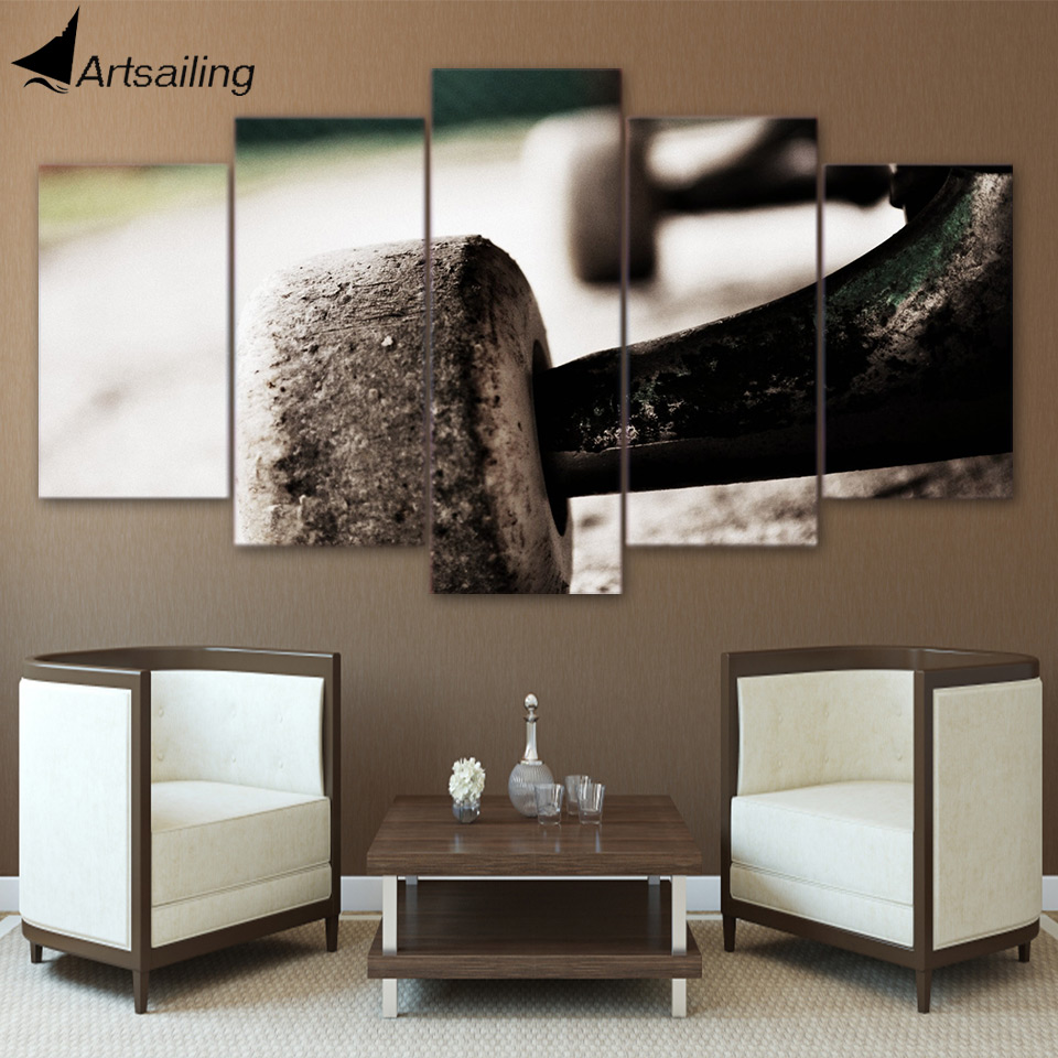HD printed 5 piece canvas art skateboard painting wheels wall pictures for living room modern sports free shipping/ CU-1641A