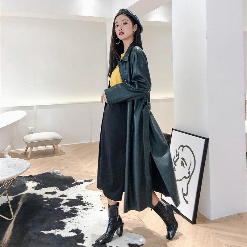Rétro 3 Grande Beau Manteau Marque Slim 2018 Nouveau Tranchée Taille Longue Vert Tempérament 8n0PXwOk