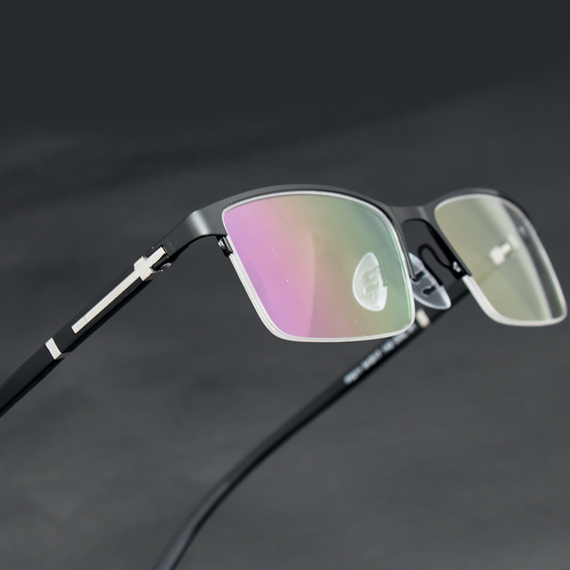 2019 Men Metal Half Frame Optical Glasses Spectacles Oculos Monturas De Lentes Hombre Eyewear Glasses Gafas Prescription