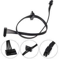 Cable MINI de 45CM, fuente de alimentación SATA de 4 pines para interfaz de Tablero Principal de Lenovo, pequeño de 4 pines a dos SATA SSD Cable de alimentación