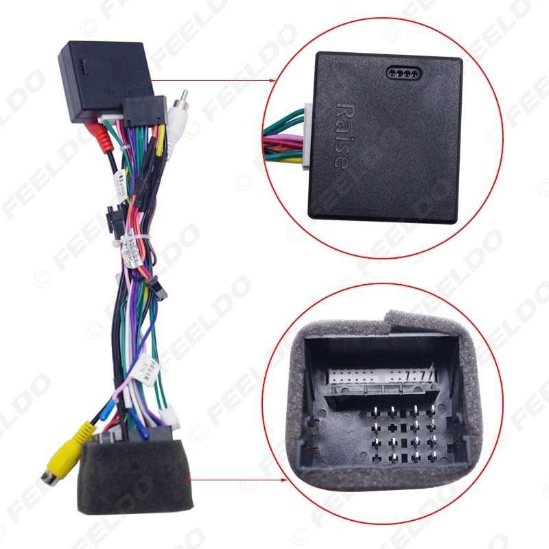 FEELDO Android Car Media Player Navi Radio CANBUS BOX Wire harness For  Volkswagen Golf 5/6/Polo/Passat/Jetta/Tiguan/Touran/Skoda