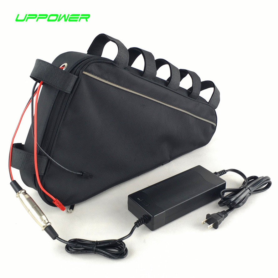 Triangle bag ebike battery 48V 17Ah lithium ion battery pack for 48V 750W BBS02 Bafang mid drive conversion motor kits free customs taxes super power 1000w 48v li ion battery pack with 30a bms 48v 15ah lithium battery pack for panasonic cell