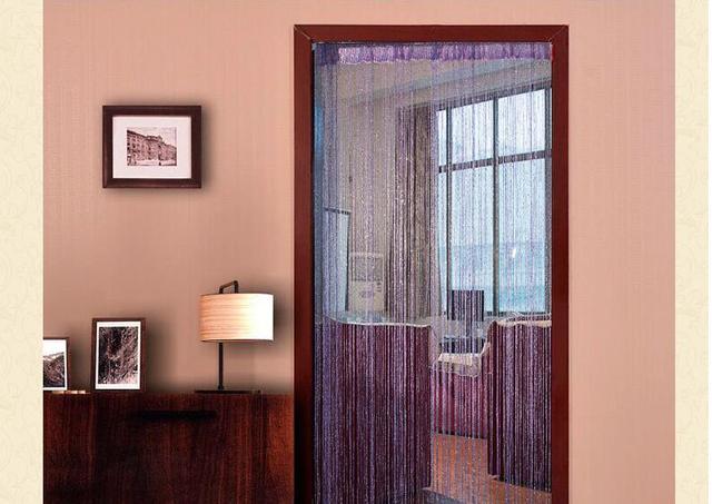 Gordijn Voor Deur : Cm multicolor hotel decoratie gordijn partitie zijde lijn
