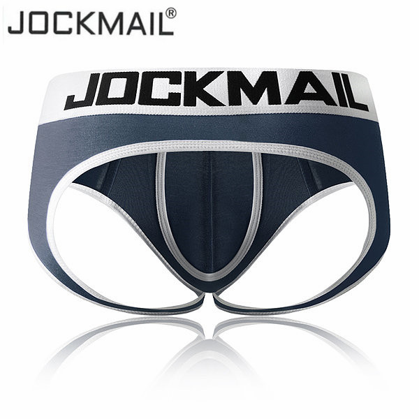 JOCKMAIL Sexy Men's Underwear Jock Straps Briefs Bikini Men Jockstraps Cueca Gay Penis Pouch Thong G Strings Modal Breathable