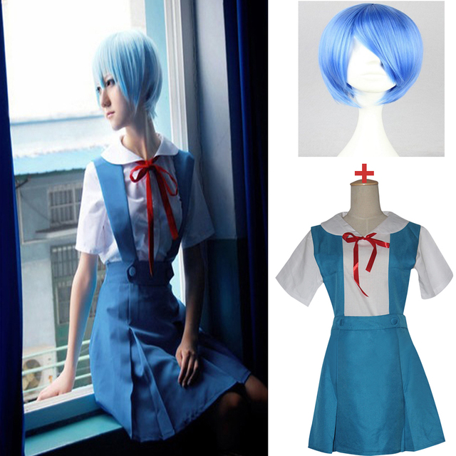 4 pièces/ensemble dame Halloween Cosplay Asuka Langley Soryu Tokyo Ayanami Rei Halloween Cosplay Costume école uniforme perruque livraison gratuite