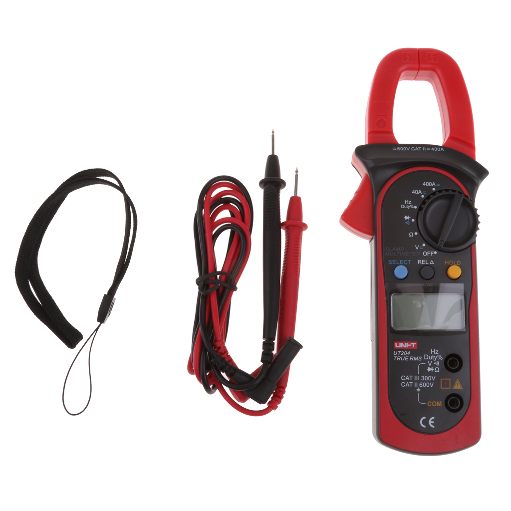 UT204 Auto-Range Digital Clamp Meter Multimeter AC DC Ammeter True RMS Test with Carry Bag цена