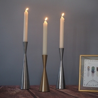 Classical Candlestick Hollow Iron Candlestick Candle Holder Stand Wedding Party