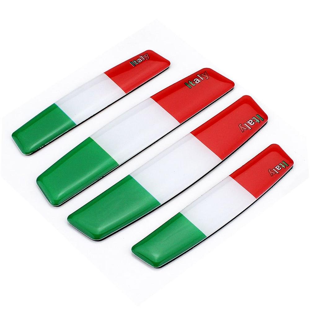 Car Styling Car Door Bumper Strip Anti Scratch Sticker For Italy Flag Logo For Fiat Panda Audi Renault Clio VW Golf Ford Honda