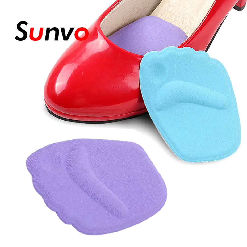 Sunvo 3D Silicone Gel Forefoot Pad For Women High Heels Inserts Front Insoles Reduces Friction Massage Foot Care Shoes Pads