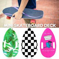 44x25cm Portable Mini Skateboard Deck DIY Natural Hand Painted Skate Skateboard Deck Maple Wood Deck for Skate Sports