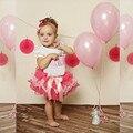 2017 del niño del bebé de princesa dress de primera comunión bautismo ropa de los niños de 1 año del cumpleaños de los bebés vestidos para bebés de 2 años