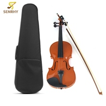 4/4 Violin Natural Acoustic Basswood Face Board Violin Aluminium Alloy Tailpiece Musical Instruments with Case Rosin Foam Box