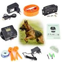 في الأرض سياج كلب كلب طوق الإلكترونية اللاسلكية النائية قابلة نظام الاحتواء الكلب ترينينج صدمة كهربائية