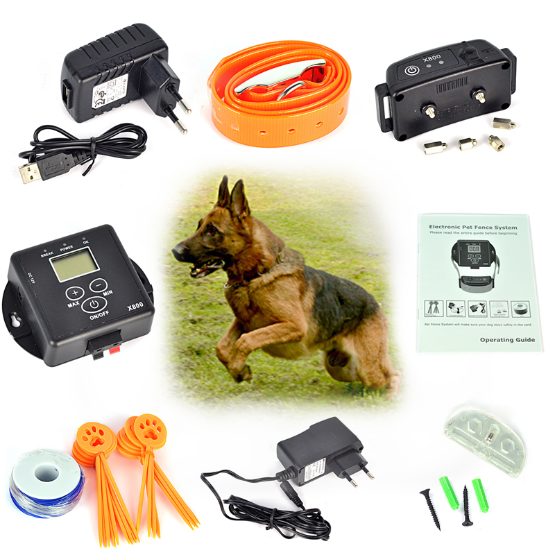 waterproof inground pet collar electronic wireless remote pet dog fence containment system for