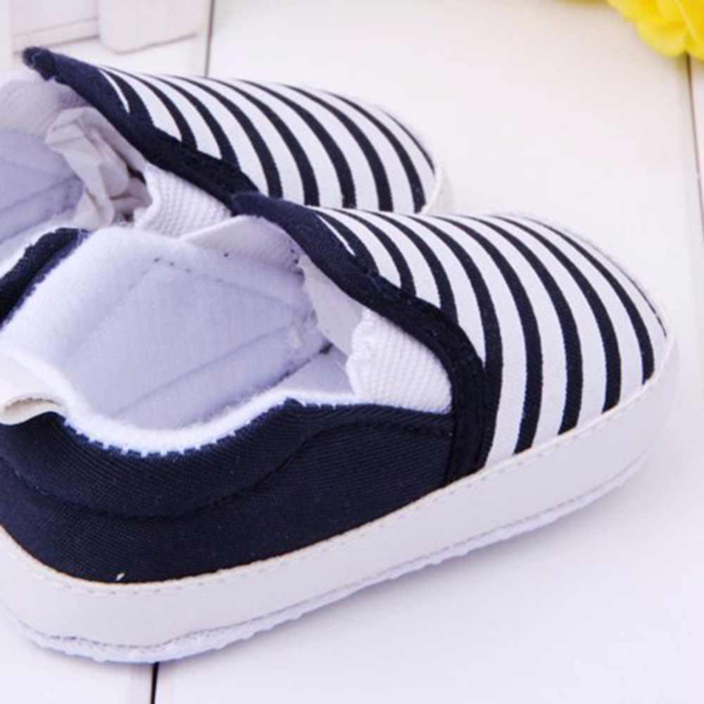 WEIXINBUY/Обувь для маленьких мальчиков; Детские слипоны для малышей; полосатые парусиновые кроссовки для малышей; bebek ayakkabi