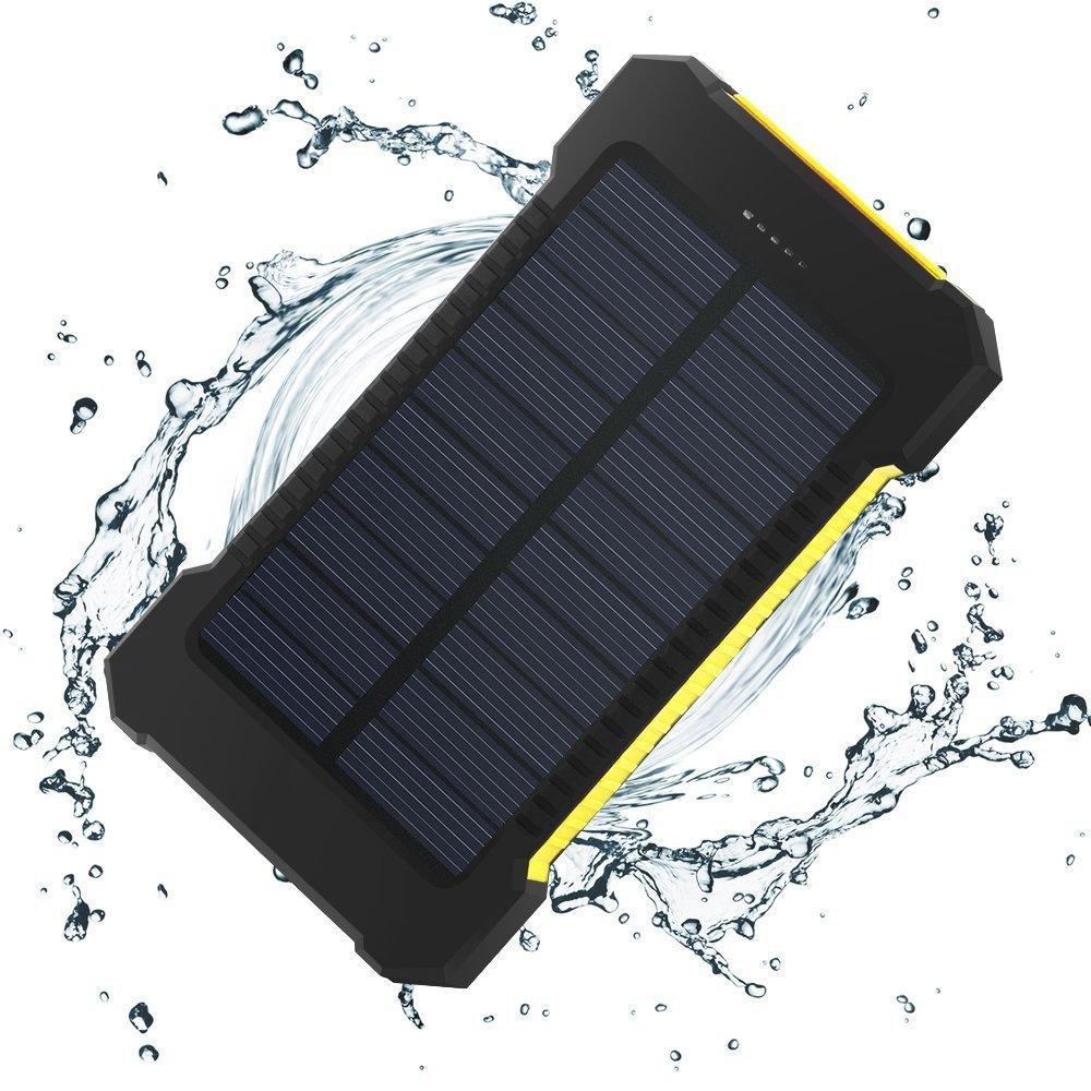 Solares à prova d' água Power Bank Real 20000 mAh Dual USB Externo Carregador de Bateria de Polímero de Luz Ao Ar Livre Lâmpada Powerbank Ferisi