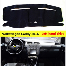 TAIJS Polyester Fibre car dashboard cover mat for Volkswagen Caddy 2016 Left hand drive Auto dashboard pad for Volkswagen Caddy