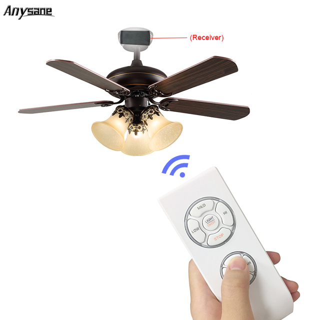 Universal Wireless Ceiling Fan Remote Control Controller Kit Timing For Led Energy