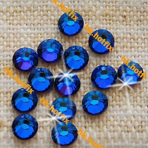GENUINE Swarovski Elements ss6 Meridian Blue ( MBLUE ) 288 Iron On Hotfix  6ss New Flatback Glass Crystal Hot-fix Rhinestones 4849978f94db