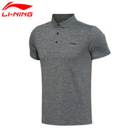 Li Ning Men S Training Polo T Shirt AT DRY Breathable 91 Polyester 9 LiNing Sports