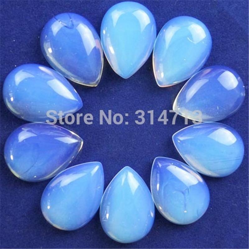 (Min.order 10$ mix)10pcs/lot Beautiful Opal Opalite Teardrop CAB CABOCHON 25x18x6mm SAM9727