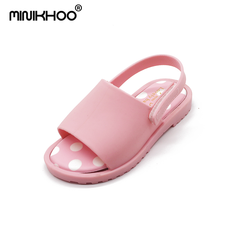 Mini Melissa Casual Jelly Sandals 2018 New Brazil Melissa Children Shoes Toddler Shoes 13.5cm-16cm Non-slip Girls Sandals